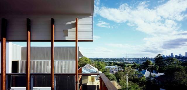 Bulimba Home - Aluminum Shutters modern-deck