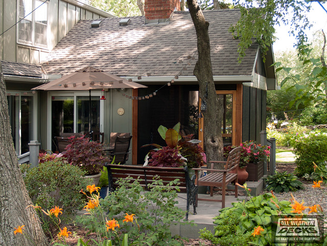 Busch - Shingled Roof Overhang in Kansas City traditional-deck