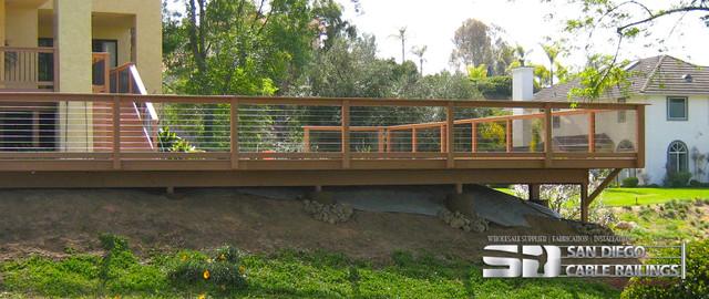 Cable Deck Railing Modern Terrace