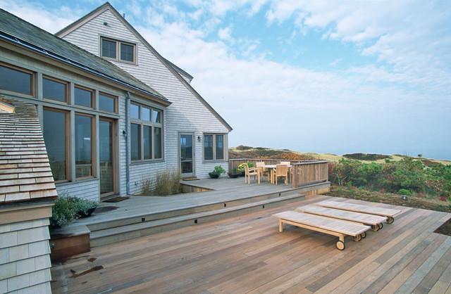 Cape Cod House Rustic Deck Boston By Boehm