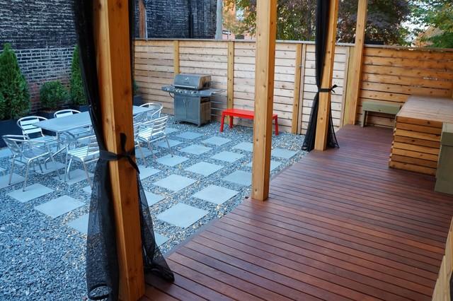 Carroll Gardens Backyard Brooklyn Contemporary Deck
