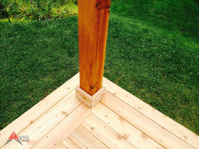 Cedar Deck Post Trim