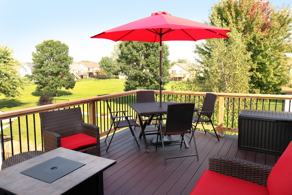 Cedar Deck with Trex Composite Decking