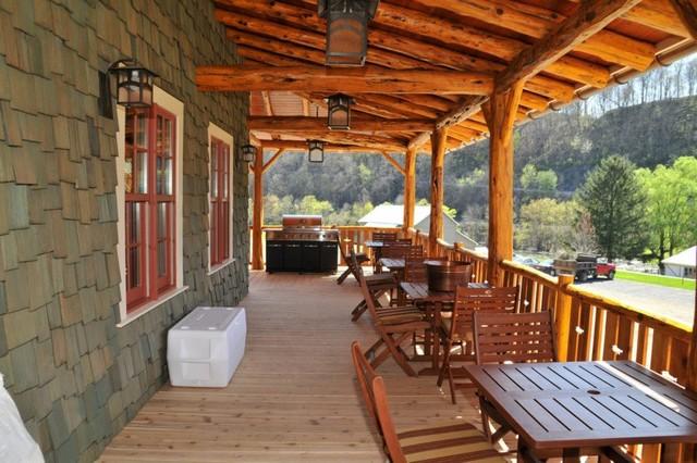 Cedar Logs, Siding, and Decking traditional-deck