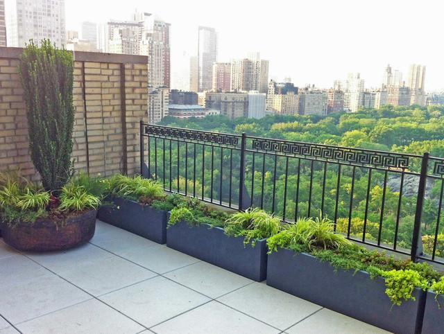 Central park roof garden terrace paver deck patio for Decking terrace garden