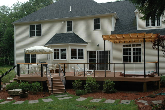 Cheshire , CT low-maintenance Fiberon deck with urban appeal traditional-deck