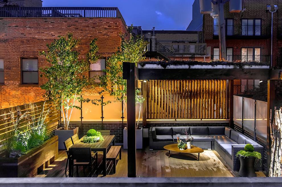 Chicago Wicker Park Garage Rooftop Deck Contemporary Deck Chicago By Reveal Design Llc