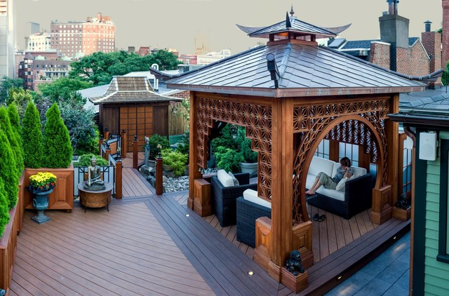 Chinese Tea House Boston Ma Asian Deck Boston By Metal Roof Network