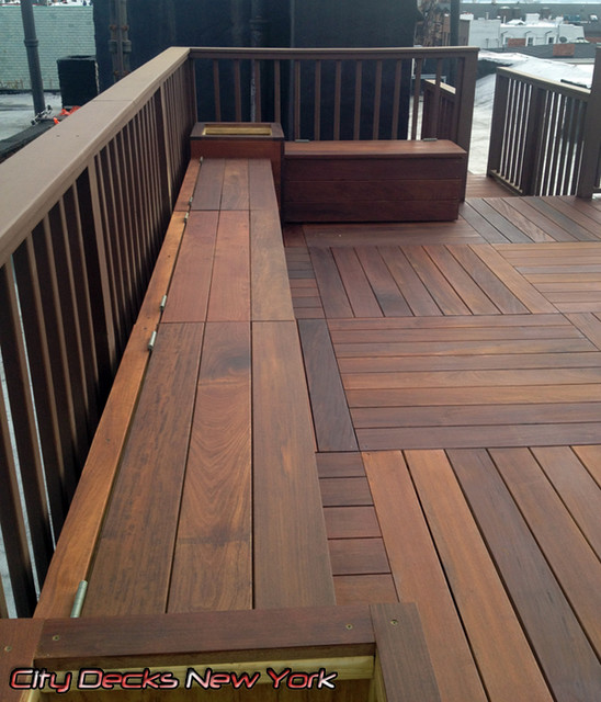 Clinton St Ipe Wood Deck Carroll Gardens Brooklyn