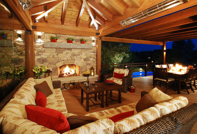 Colorado Outdoor Living Room Rustic Deck