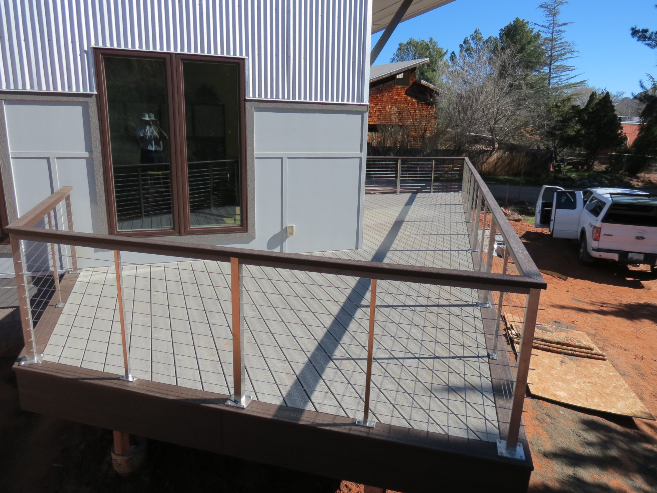 Composite decking and stainless railing