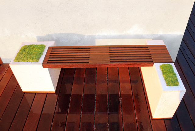 Concrete and Ipe Bench - Modern - Deck - Los Angeles - by Stone Cold ...