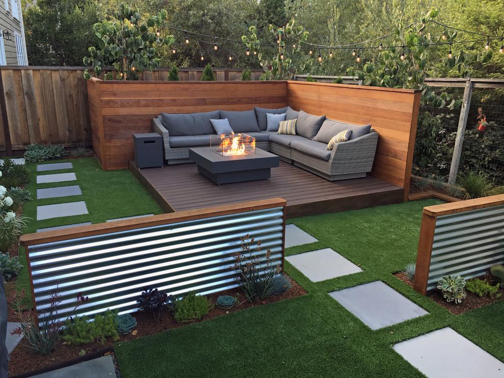 Contemporary Backyard Remodel Contemporary Deck San Francisco By Land Studio C