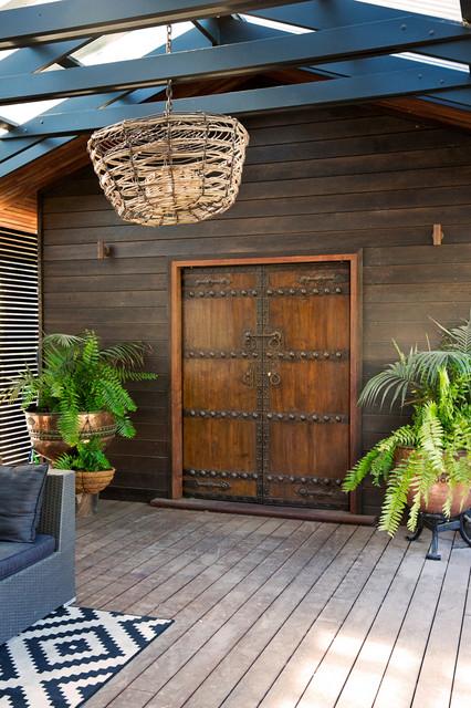 Contemporary Beach House beach-style-deck