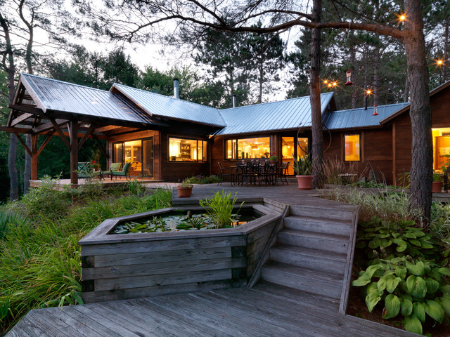 Contemporary Camp In The Woods Rustic Deck Burlington By Cushman Design Group