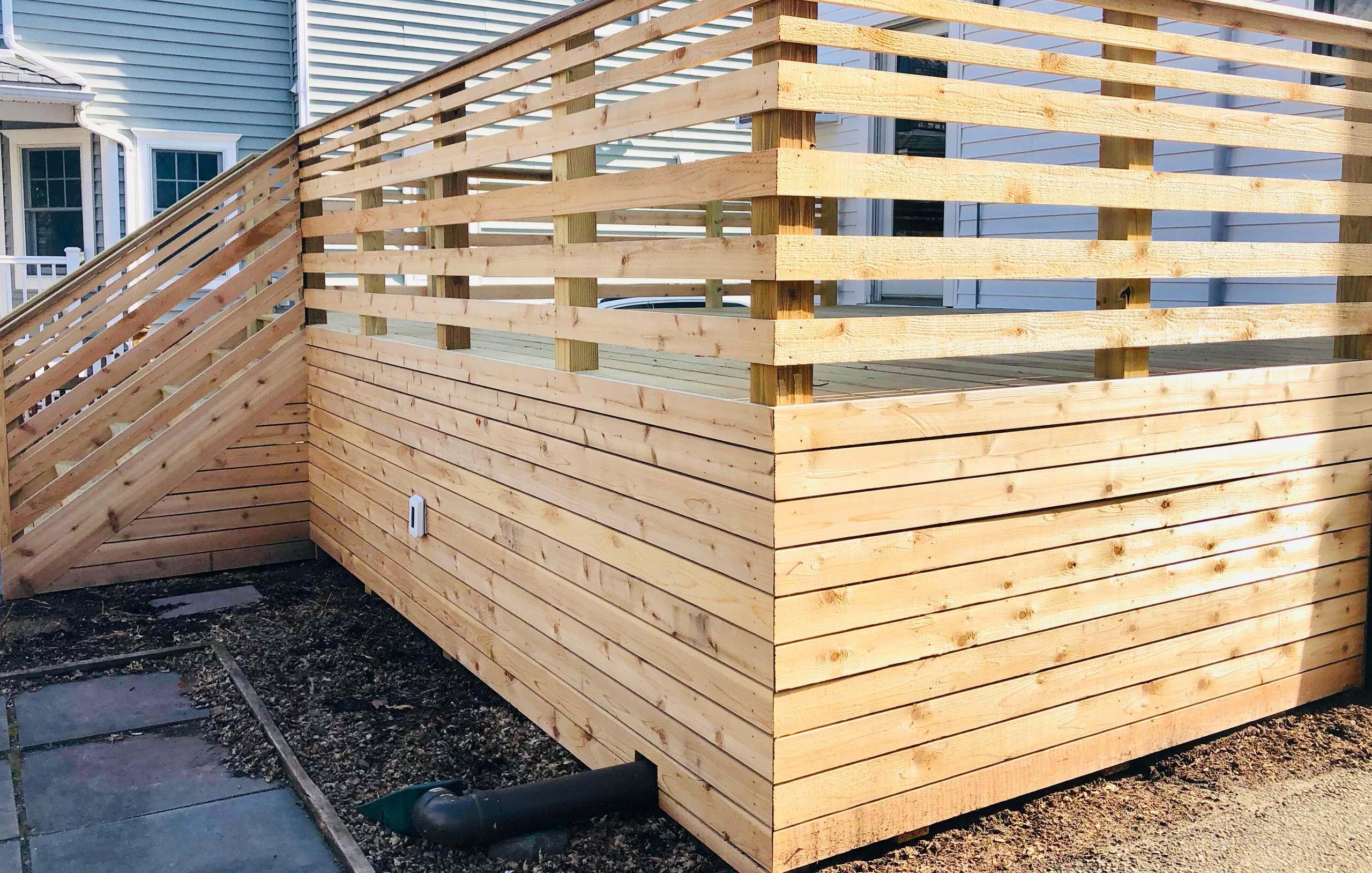 Contemporary Cedar Deck - Detail