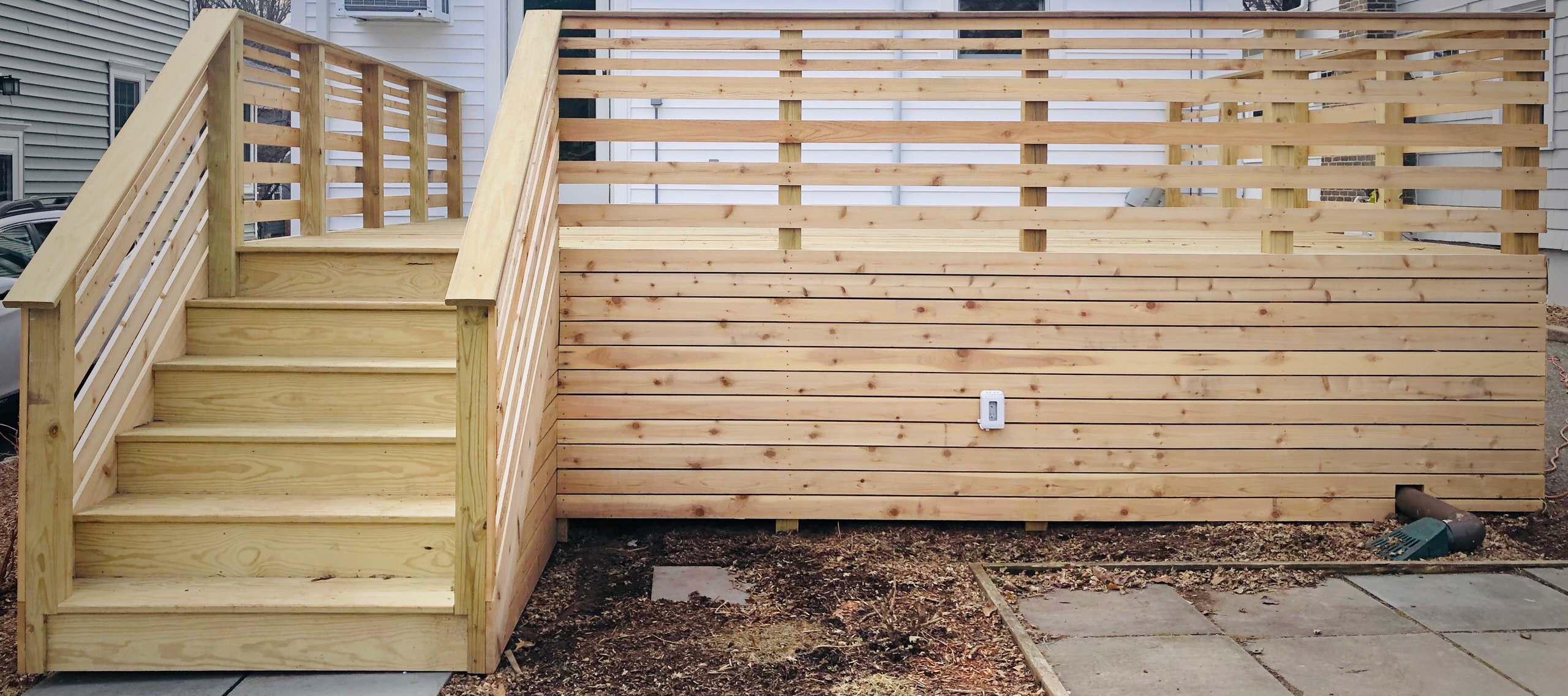 Contemporary Cedar Deck - Front