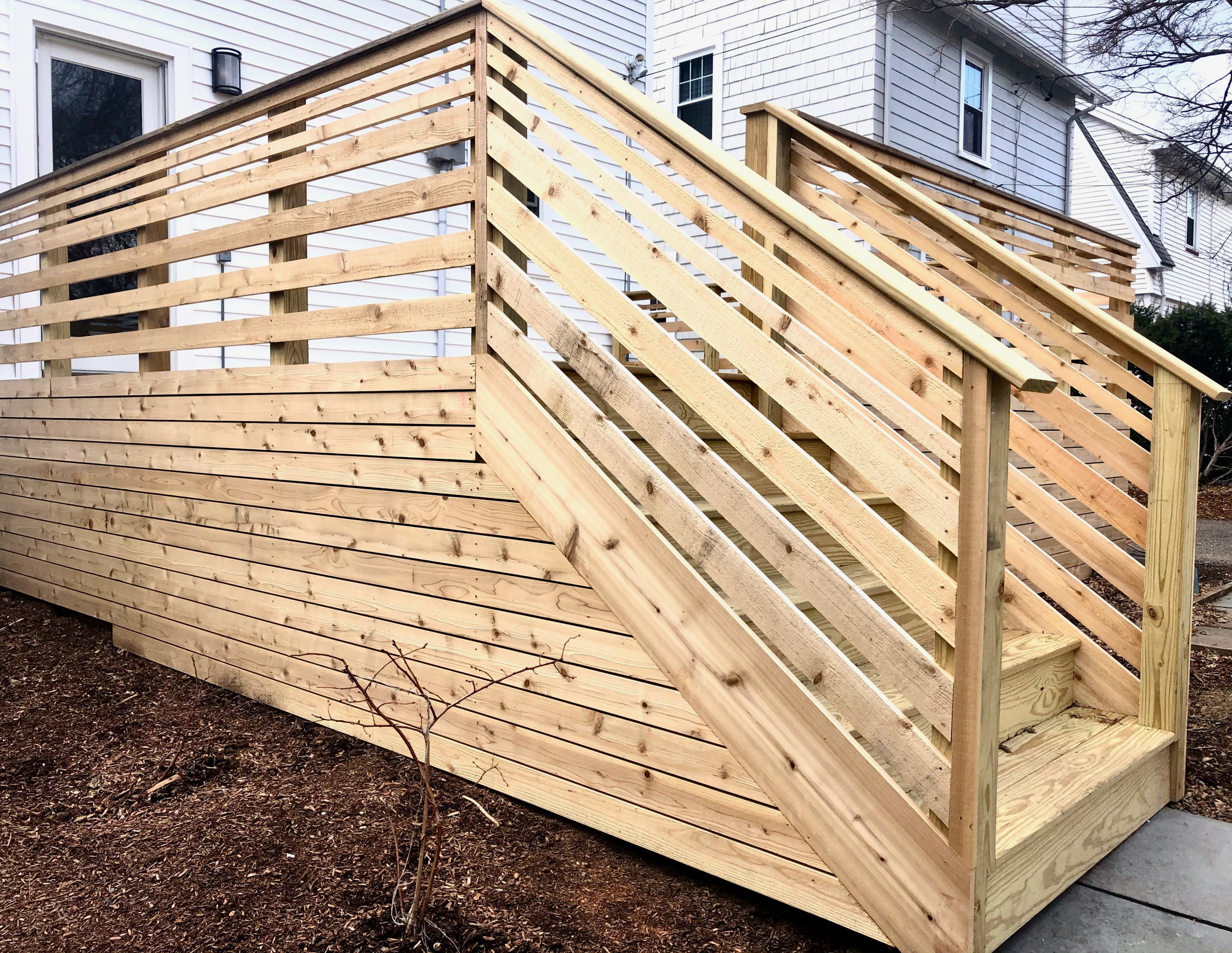 Contemporary Cedar Deck - Side