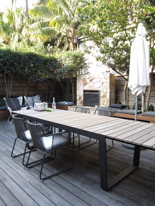 long outdoor table