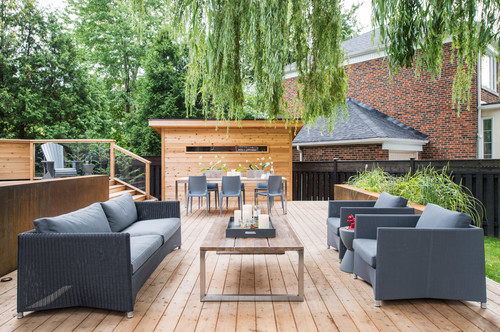 patio furniture on deck in toronto