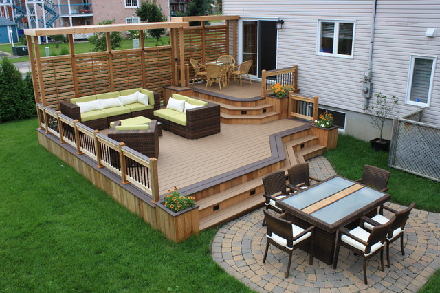 Contemporary Deck - Backyard deck ideas
