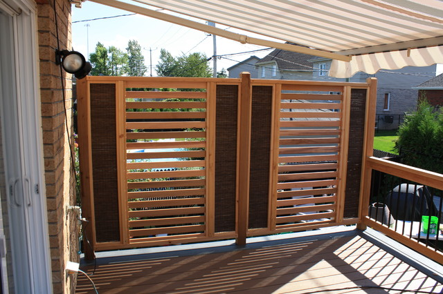Patio deck art design contemporary deck montreal for Patio deck privacy screen