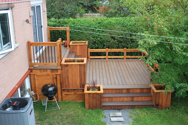 Patio Deck Art Design Contemporary Deck Montreal