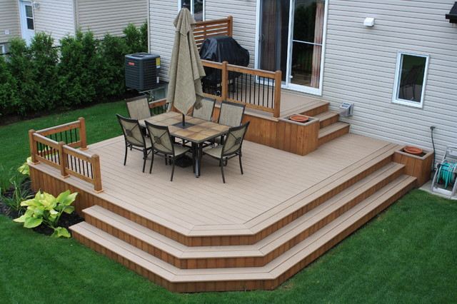 Patio deck art design contemporary deck montreal for Decks and patios design ideas