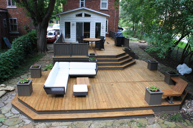garden design with patio deckart designs new contemporary deck montreal with pictures of backyard patios - Deck And Patio Design