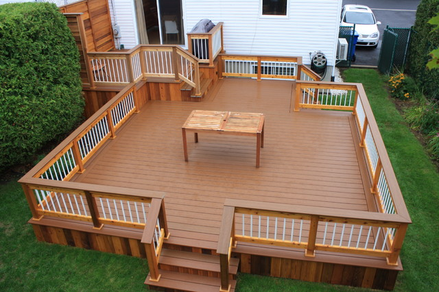 Patio deck art design contemporary deck montreal for Backyard deck pictures