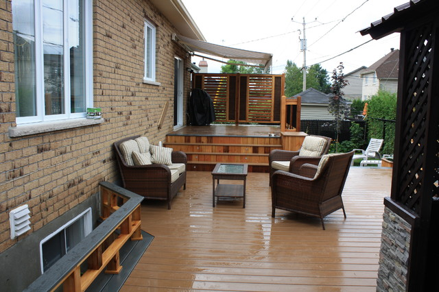 custom trex decks patios contemporain terrasse en bois et balcon montreal par patio deck art. Black Bedroom Furniture Sets. Home Design Ideas
