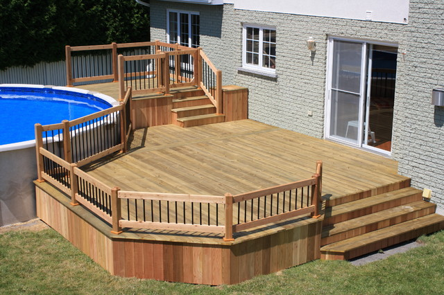Cathy saha on pinterest - Mobile home deck designs ...