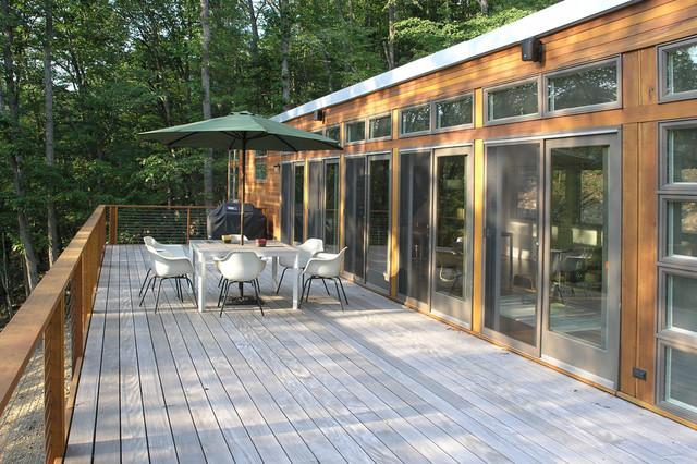Brown Bar Exterior Modern Deck New York By