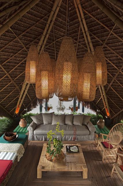 Contemporary Hut Tropical Deck