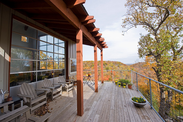 Bluff House contemporary-porch