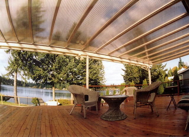 Amazing Conventional Roof Style Traditional Deck