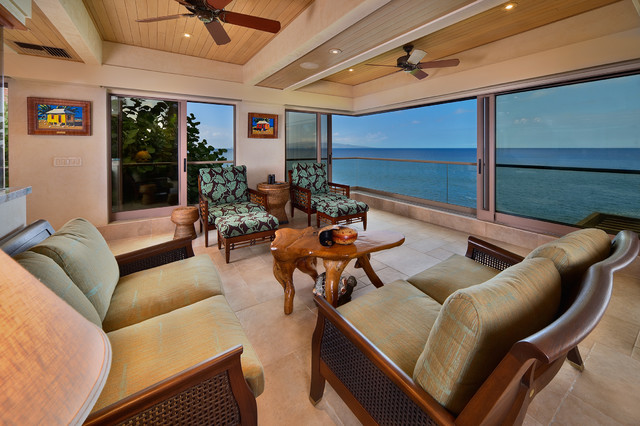 Covered Lanai Tropical Deck Other By Architectural