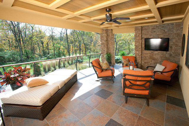 Covered Porch Contemporary Porch Cincinnati By Rwa