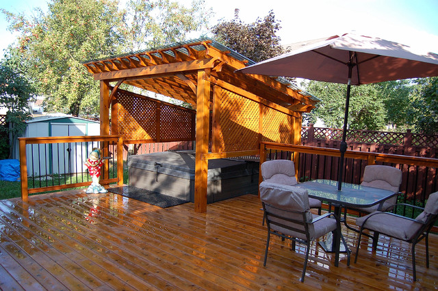 Covered Spa And Cedar Deck  Traditional  Deck  Ottawa. Ideas To Make Patio Furniture. Cheap Patio Furniture Las Vegas. Patio Furniture Nj Craigslist. Plastic Outdoor Playset. Patio Furniture For Sale Mississauga. Backyard Garden Patio Ideas. Outdoor Patio Furniture Asheville Nc. Clearance Patio Set Canada