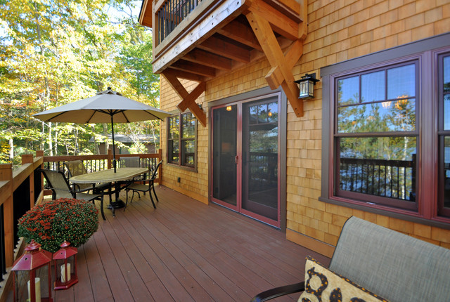 Cozy Timberframe Lake House traditional-deck