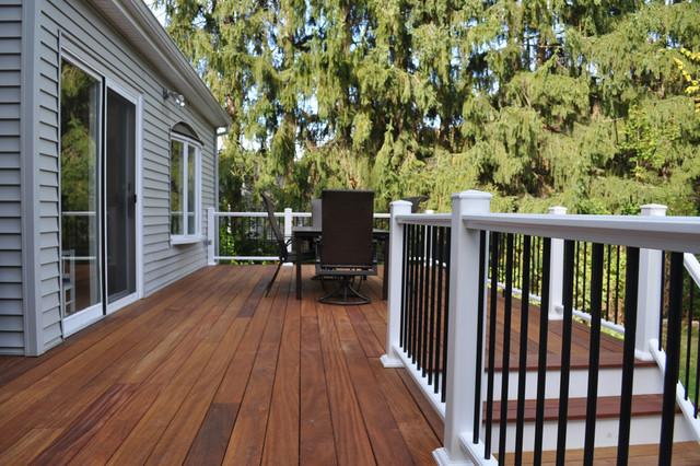 Cumaru Deck With Azek Handrails Traditional Deck