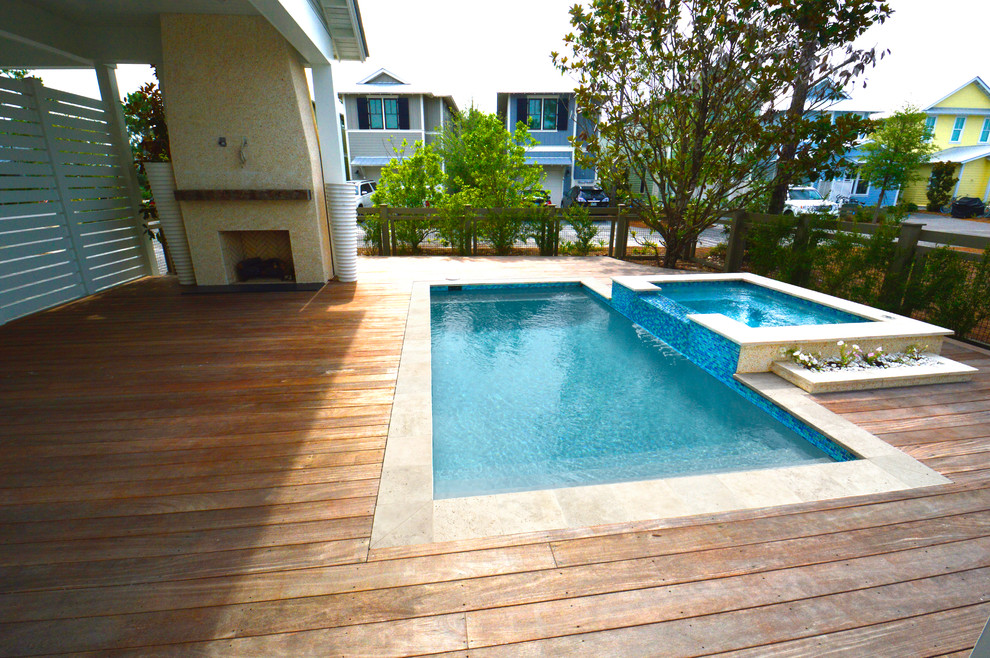Cumaru Wood Decking Pool Decks In The Florida Panhandle Beach Style Deck Miami By Overseas Hardwoods Co