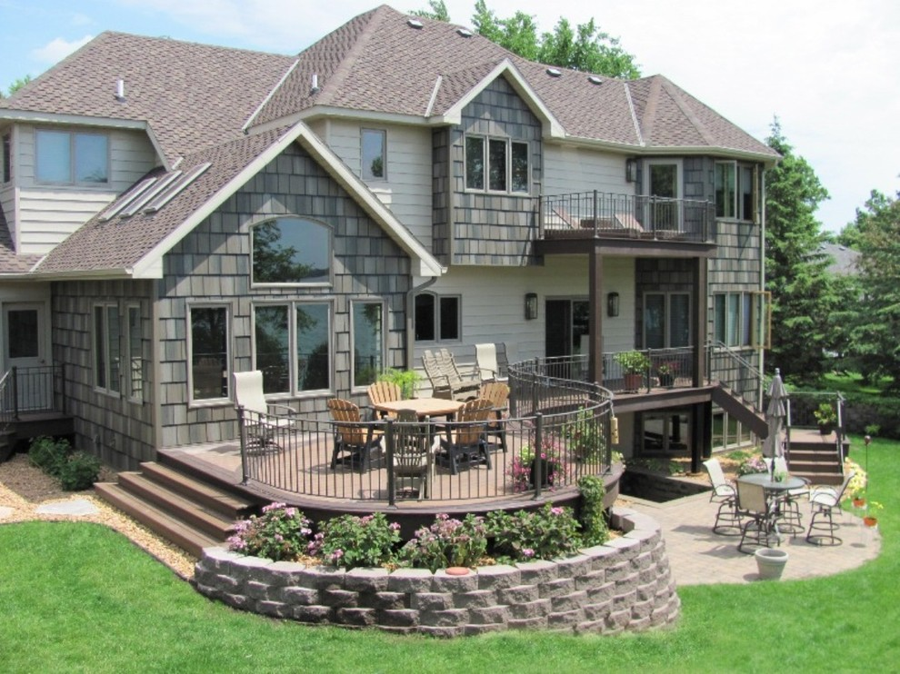 Curved Trex Deck - Traditional - Deck - Minneapolis - by ...