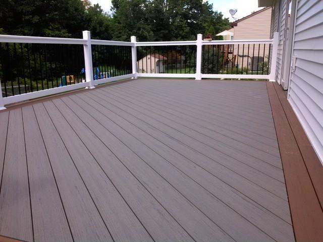 Custom bc l deck featuring timbertech terrain decking Terrain decking