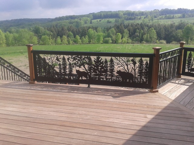Custom Deck And Nature Scene Railing 42014 Rustic