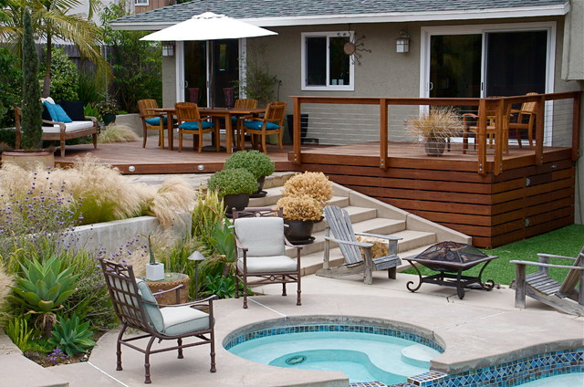 Custom Decks Contemporary Deck San Diego By Sd