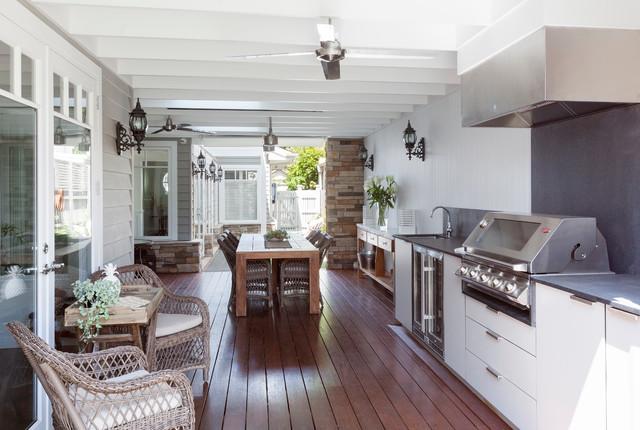 Custom Design Home Hamptons Style Transitional Deck