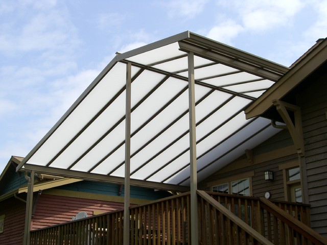 Custom Gable Patio Cover On Craftsman Style Home Outdoor