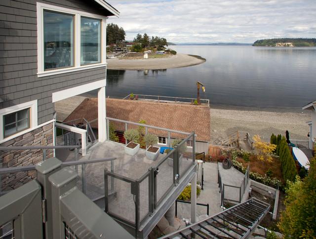 Custom Home  - Gig Harbor, WA beach-style-deck