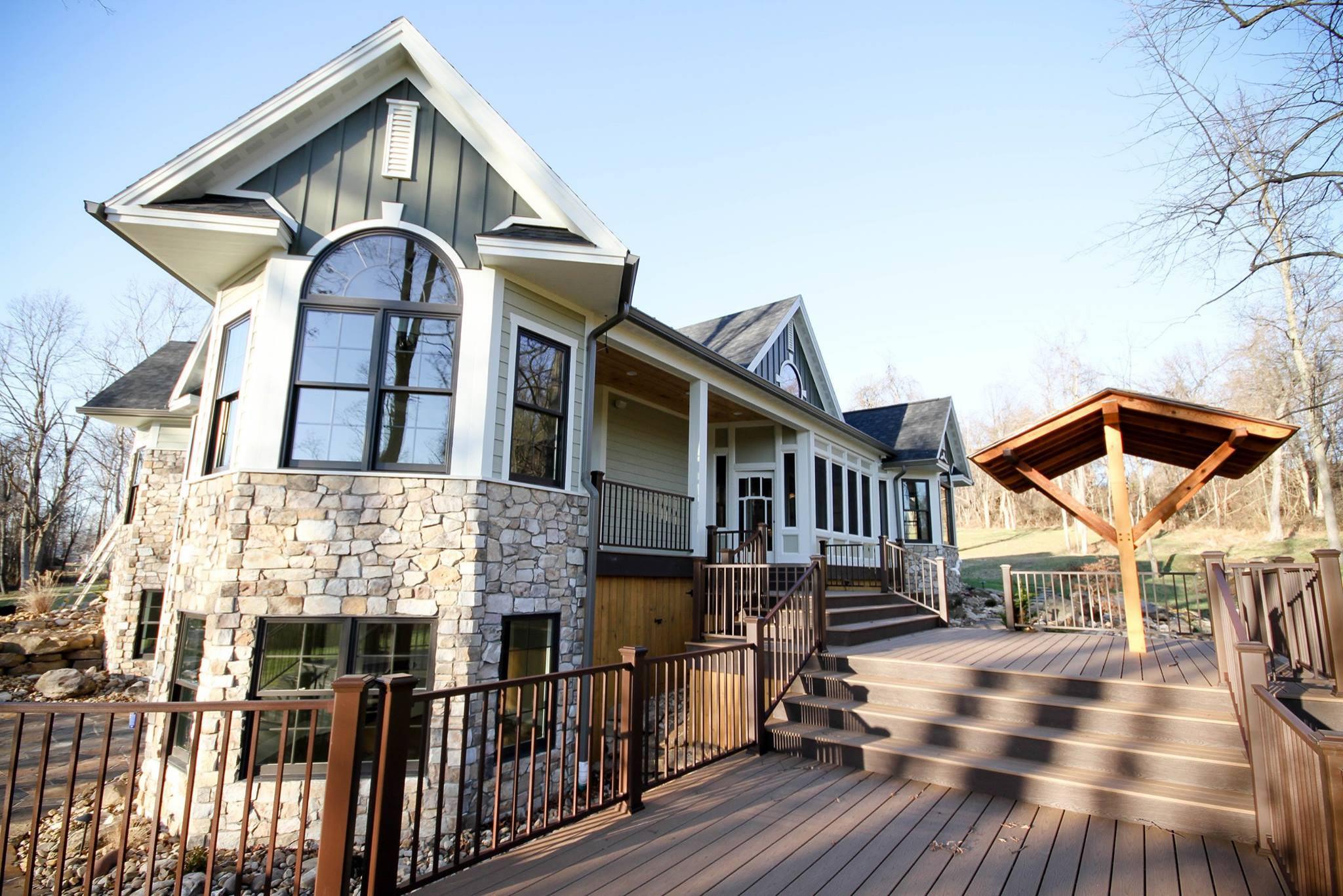 Custom Home: New Construction and Deck/Pergola
